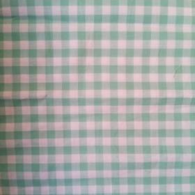 Telas estampadas color turquesa