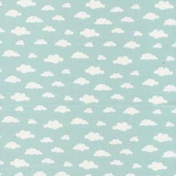 Tela de nubes(verde menta)