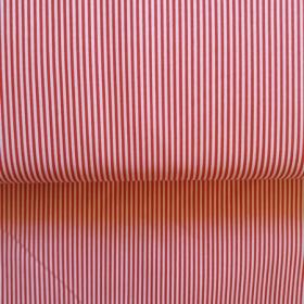 Tela rayas rojo-blanco