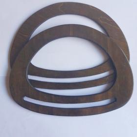 Asas de madera ovaladas(marrón oscuro)