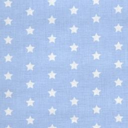 Tela azul y estrellas blancas