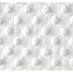 Tela minky color blanco