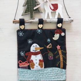 """Panel de Navidad """"Muñeco de nieve"""""""