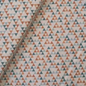 Tela geométrica(verde y marrón)