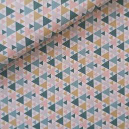 Tela geométrica(rosa y verde)