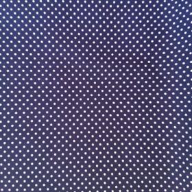 Tela en topitos azul-blanco