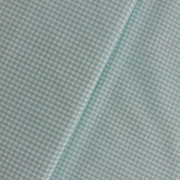 Tela cuadros pequeños color turquesa