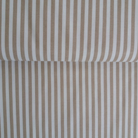Tela de rayas blanco-beige