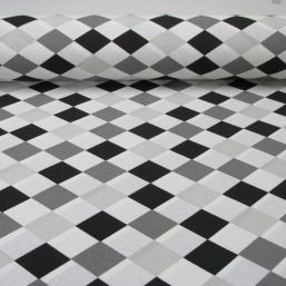 Loneta Arlequin blanco-negro